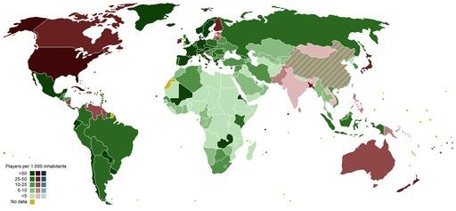 Popularité du football dans le monde