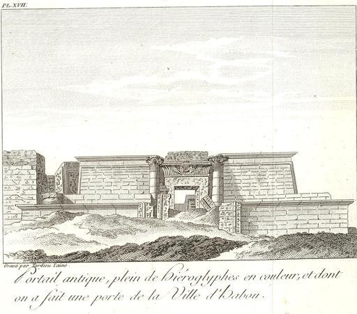 Porte du temple d'Amon en 1799