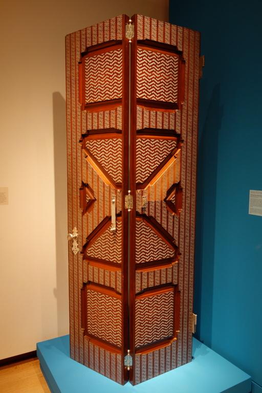 Porte vitrée à double battant en 1881