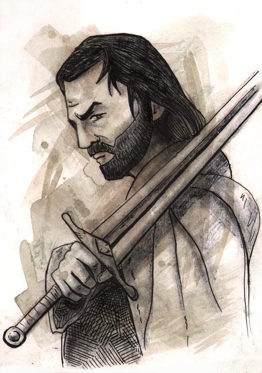 Portrait d'Aragorn du Seigneur des Anneaux