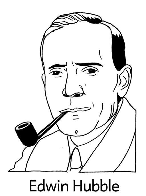 Portrait d'Edwin Hubble