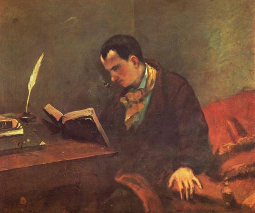 Portrait de Baudelaire par Courbet