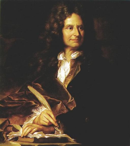 Portrait de Boileau à la plume d'oie