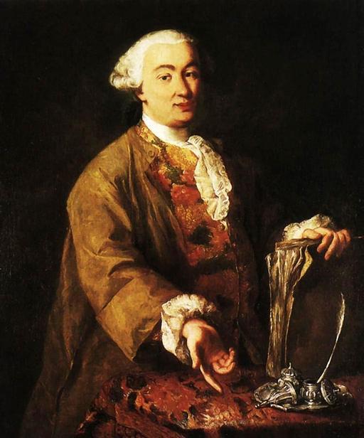 Portrait de Carlo Goldoni à la plume d'oie