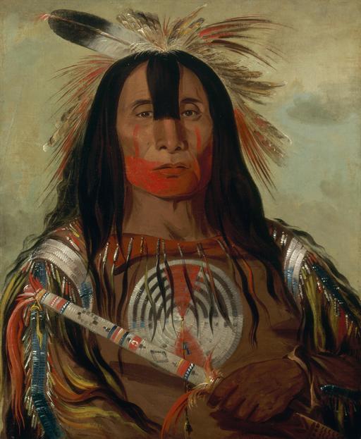 Portrait de chef indien en 1832