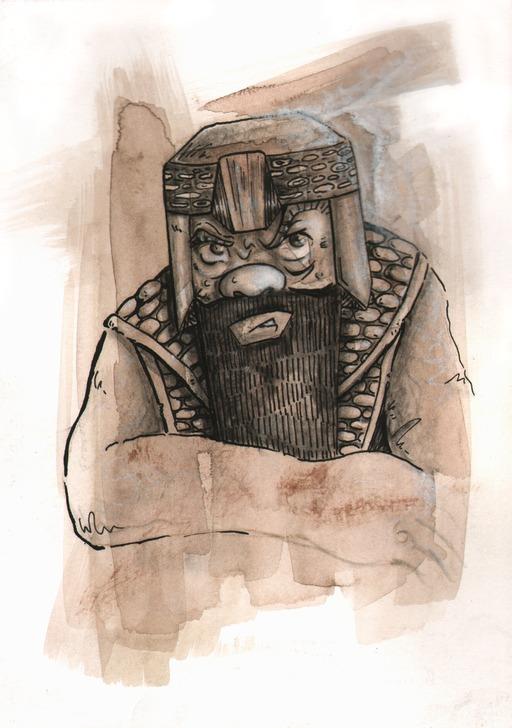 Portrait de Gimli, le roi des nains