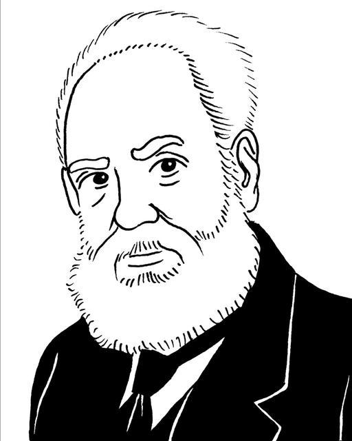 Portrait de Graham Bell en 1914