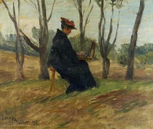 Portrait de Marie Duhem peignant
