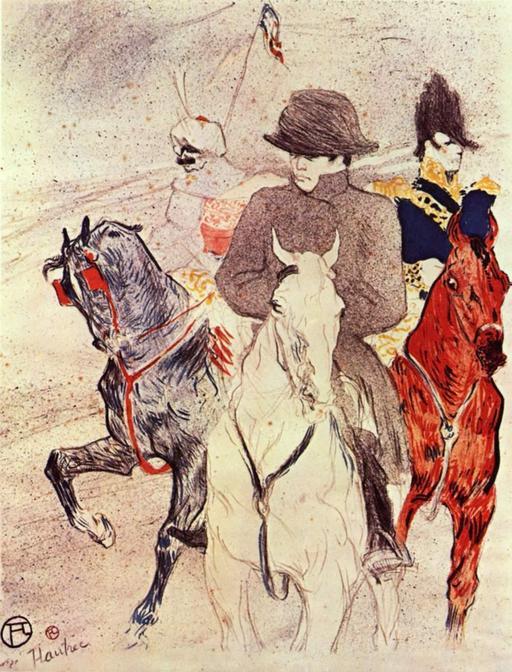 Portrait de Napoléon à cheval