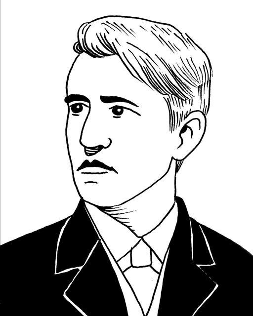 Portrait de Thomas Edison à 31 ans