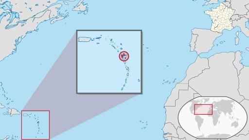 Position de la Guadeloupe