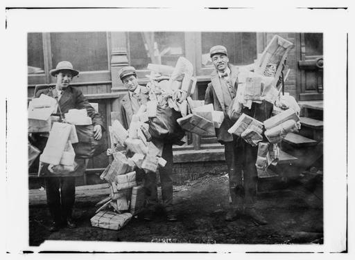 Postiers de Noël en 1910