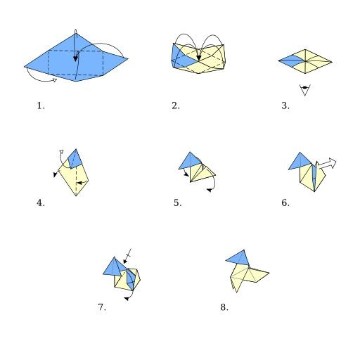 Poule en origami