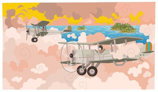 Premier tour du monde en avion