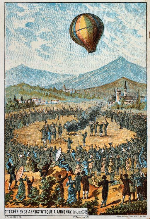 Première expérience aérostatique à Annonay en 1783