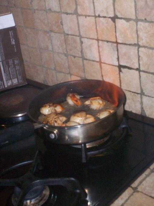 Préparation de coquilles Saint-Jacques