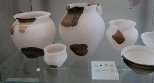 Présentation d'objets archéologiques au musée d'Édimbourg