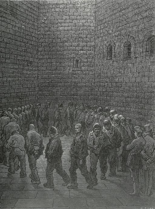 Prison de Newgate à Londres en 1872
