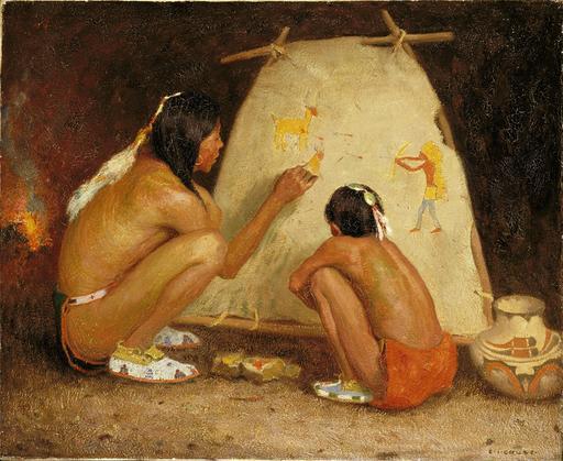 Professeur de peinture indien