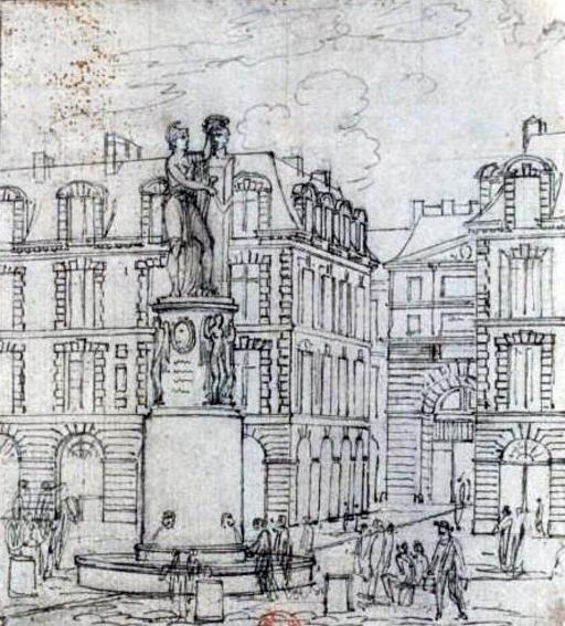 Projet de Fontaine Desaix  à Paris