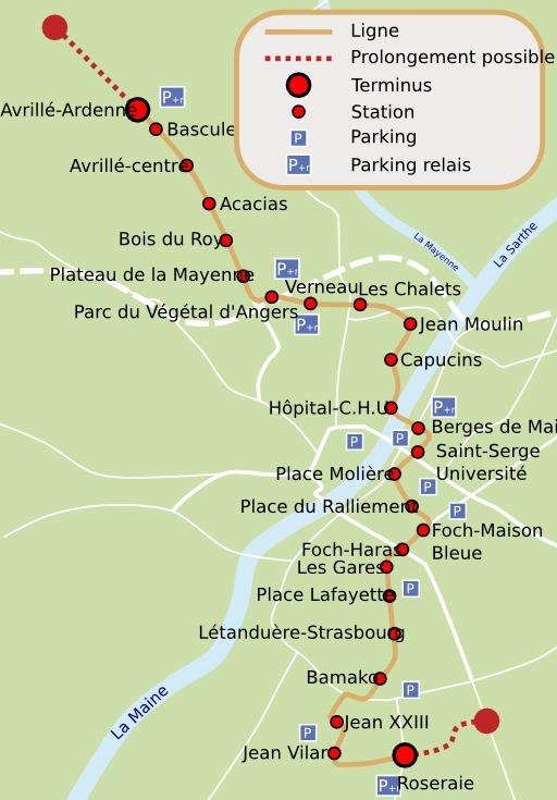 Projet de tramway à Angers