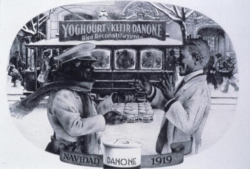 Publicité espagnole de yaourt en 1919