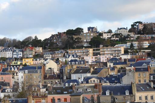 Quartier à flanc de colline au Havre