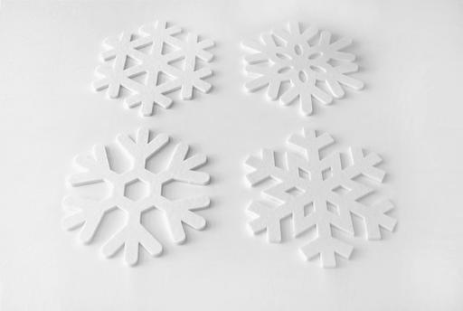 Quatre flocons de neige