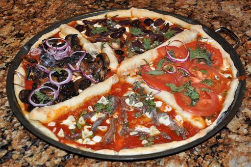 Quatre quarts de pizza