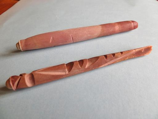 Radioles sculptées d'oursin-crayon