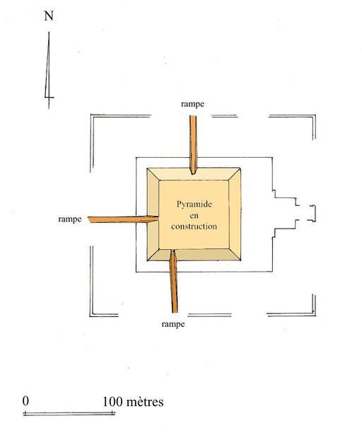 Rampes d'accès à une pyramide