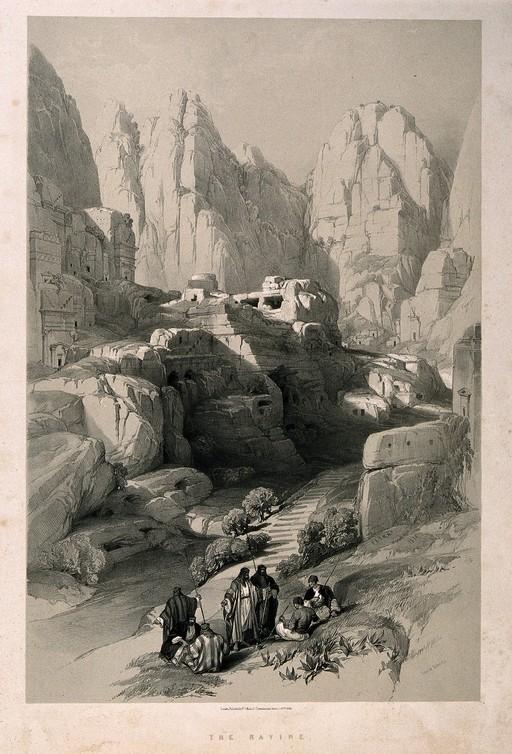 Ravin près de Petra en 1839