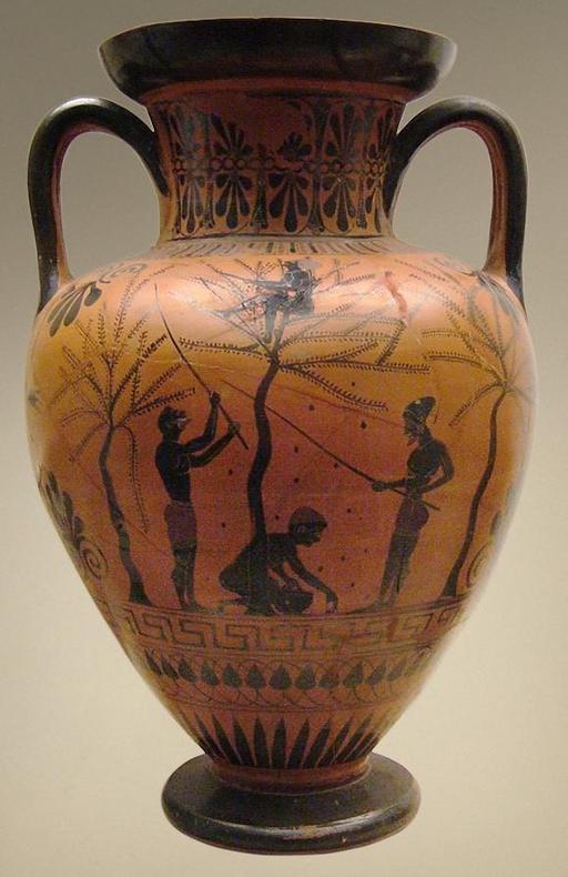 Récole d'olives dans l'antiquité