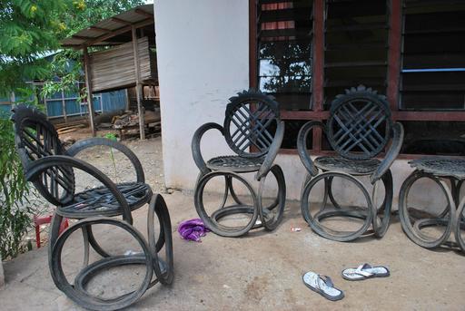 Recyclage de pneus en Malaisie
