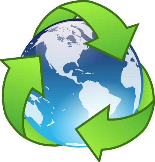 Recyclage sur la terre