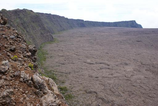 Rempart de l'Enclos Fouqué sur le Piton de la Fournaise