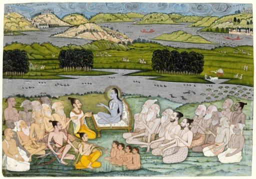 Rencontre entre un roi et un sage en Inde en 1760
