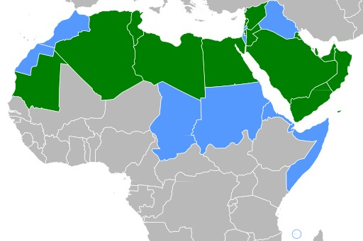 Répartition de l'arabe langue officielle