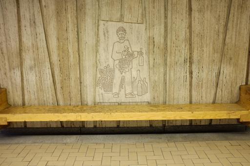 Représentation d'un marchand au métro de Montréal