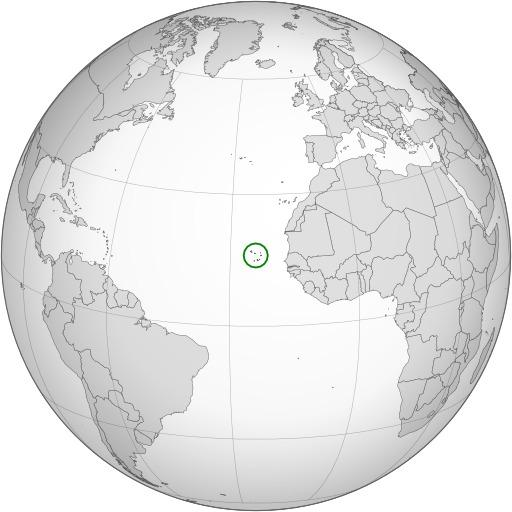 Carte de la République du Cap-Vert