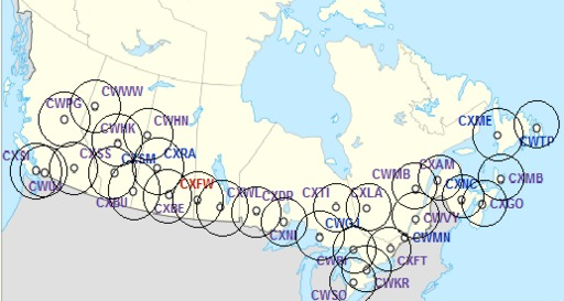 Réseau des radars météo canadiens