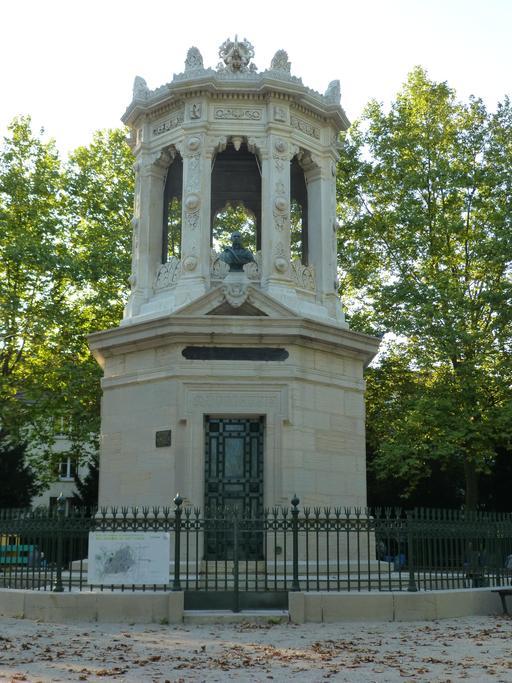 Réservoir d'eau au Jardin Darcy à Dijon
