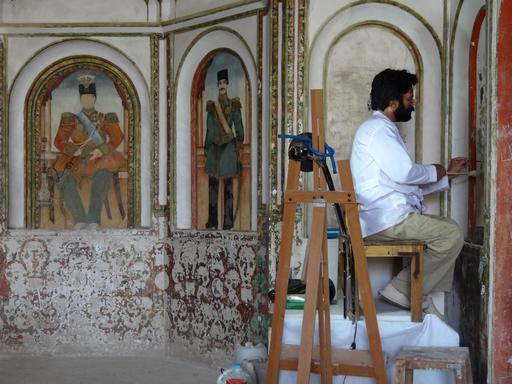 Restaurateur au travail en Iran