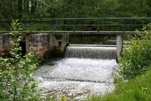 Retenue du moulin de Rouillac à Canéjan en Gironde