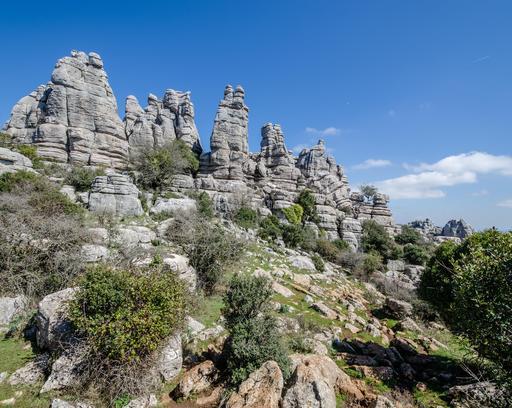 Rochers en Andalousie