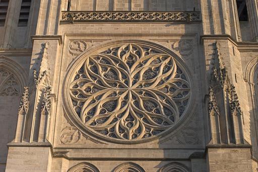 Rosace nord de la Cathédrale de Bordeaux