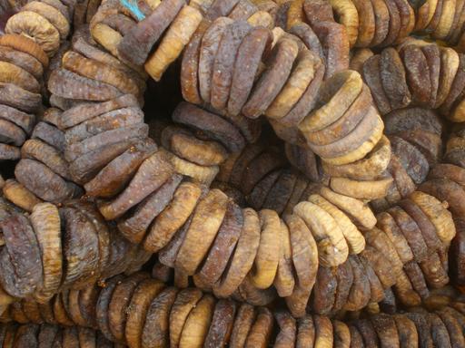 Rouleaux de figues sèches