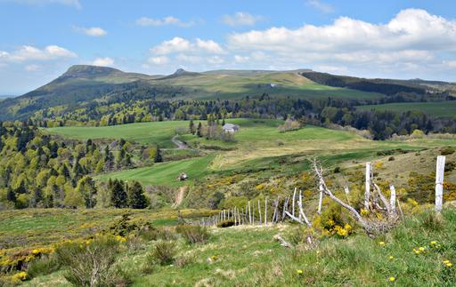 Route du col de la Croix-Morand en Auvergne
