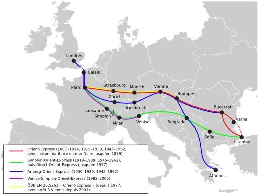 Routes historiques de l'Orient-Express