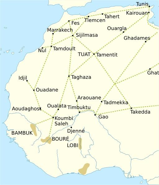 Routes transsahariennes médiévales